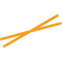 Yocaher Neon Orange Skateboard Rails
