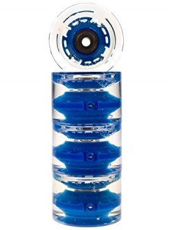 Sunset Skateboards Long Board 2 Wheel with ABEC-9 Bearing (4-Pack), Blue, 65mm/78a
