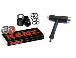 Bones Bearings Reds Bearings (8 Pack w/ Spacers & Washers & T-Tool)