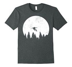 Mens Retro Skateboarding T-Shirt | 80s Vintage Skate Tee Shirt 3XL Dark Heather