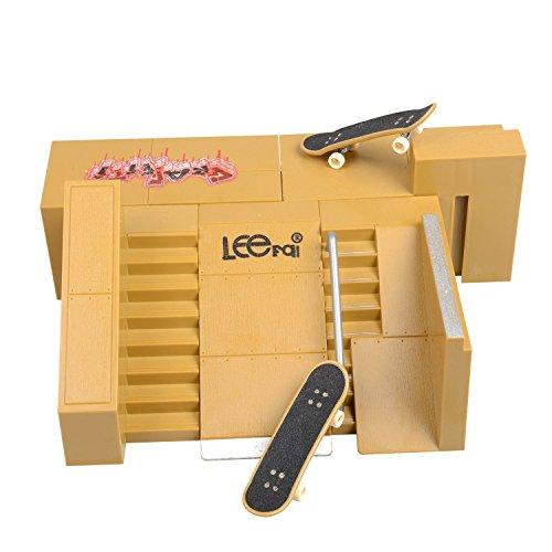 Wilsea 5pcs Skate Park Kit Ramp Parts for Tech Deck Circuit Board Mini Finger Skateboard Fingerb ...