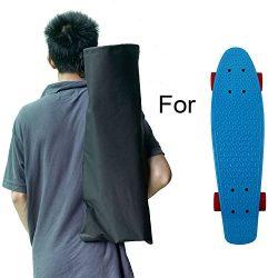 Cooplay Black Small Penny Banana Skateboard Backpack Mini Carry Bag 22″ 27″ 600D Nyl ...