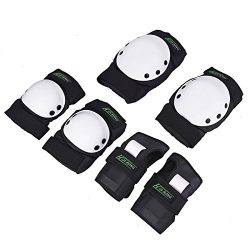 Huarong Kids adult Knee Pads Knee & Elbow Pads Set Gear Pad for Skateboard Skating Sports (W ...