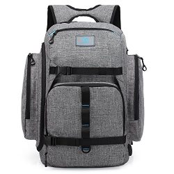CoolBELL 17.3 Inch Laptop Backpack Multi-functional Travel Knapsack Skateboard Tied Function Bac ...