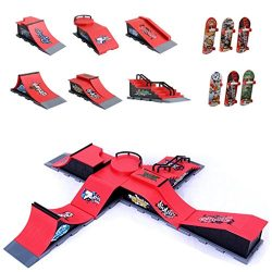 Skate Park Kit Ramp Parts – Mini Finger Skateboard Park for Tech Deck Fingerboard Ultimate ...