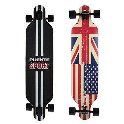PUENTE Skateboard Complete Pro Longboard 41 Inch