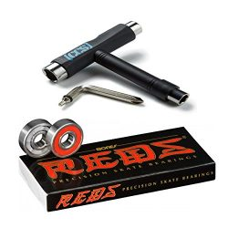 Bones Reds Bearings W/CCS Skateboard Tool (no washers or spacers)
