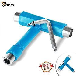JBM Skate Tool All in One (4 Colors) Multi Function Skateboard T Tool Accessory with T type Alle ...