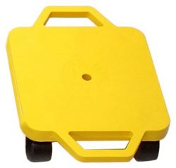 Cosom 12 Inch Plastic Childrens Scooter Board With 2 Inch Ultra-Glide Nylon Casters and Safety G ...
