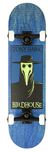 Birdhouse Skateboards Premium Quality Tony Hawk Plague Doctor Complete Skateboard, Blue, 8.0″
