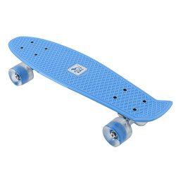 RUNACC 22″ Skateboard Cruiser Skateboard Plastic Banana Board with Bendable Deck and Smoot ...