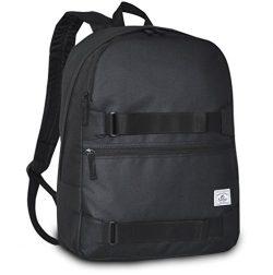 Everest Grip Tape Skateboard Backpack, Black, One Size