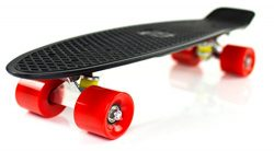 Boss Board Complete Vintage Skateboard Color: Revolution (Black Deck with Red Wheels)