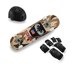 Wood Standard Skateboards Complete Rekon Skate Kit Maple Skateboard Desert Camouflage Graphics 3 ...