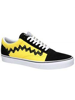 Vans Unisex Old Skool (Peanuts) Charlie Brown/Black Skate Shoe 6 Men US/7.5 Women US