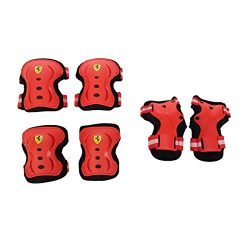 Ferrari Adult / Kids Knee Pads Elbow Pads Wrist Guards 3 In 1 Protective Gear Set