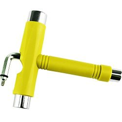 High Bounce All-In-One Multifunction Skateboard T-Tool (Yellow)