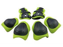 Panegy Kids Youth Protective Gear Safety Pad Safeguard Knee Elbow Wrist Roller BMX Bike Skateboa ...