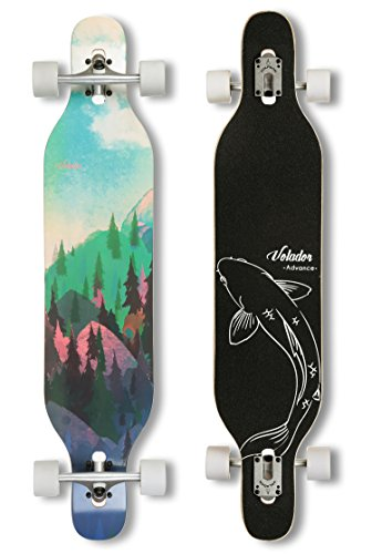 e5a1d3b4453 VOLADOR 42inch freeride longboard complete cruiser ( drop through deck –  camber concave )( .