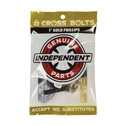 Independent Genuine Parts Cross Bolts Standard Phillips Skateboard Hardware (Black/Gold, 1″)