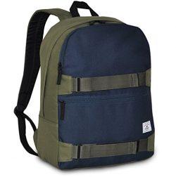 Everest Grip Tape Skateboard Backpack, Olive/Navy, One Size