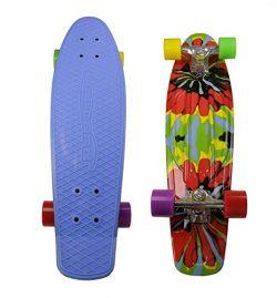 Moboard 27″ Inch Graphic Complete Skateboard (Blue / Tye Dye )