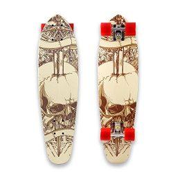 """WeSkate Skateboard Complete Cruiser 27″ x 8"""" Full Size Canadian Maple Wood Long Skat ..."""