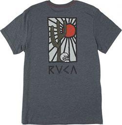 RVCA Men's Cactus Rays Vintage Dye Tee, Dark Denim, M