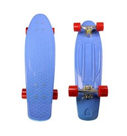 MoBoard 27″ Inch Graphic Complete Skateboard (Blue – Red)