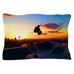 CafePress – Skateboard Sunset – Standard Size Pillow Case, 20″x30″ Pillo ...
