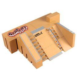 Weoxpr 5pcs Skate Park Kit Ramp Parts for Tech Deck Circuit Board Mini Finger Skateboard Fingerb ...