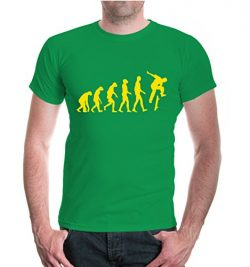 buXsbaum T-Shirt The Evolution of skate-M-Kellygreen-Sunflower