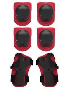 Protective Gear, Kids' Knee Pads, Elbow Pads, Wrist Guards With Adjustable Straps for Hove ...