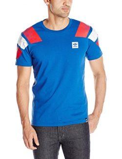 adidas Originals Men's Skateboarding Copa France Tee, Equipment Blue, Medium