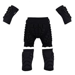 Sports Protective gear set for Audlt,3D Padded Shorts + Elbow Pads + Knee Pads,LightWeight Guard ...