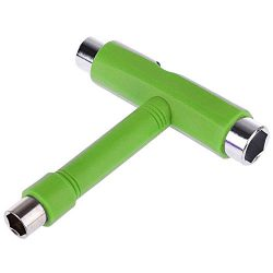 Heavy T-Tool Green Wrench For Skateboard Roller Skates Multi Functions All In One T Tool