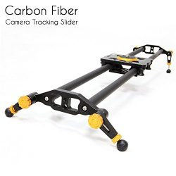 Selens 31″ 80cm Carbon Fiber Dslr Camera Slider Rail Track Dolly Video Stabilization (Gold)