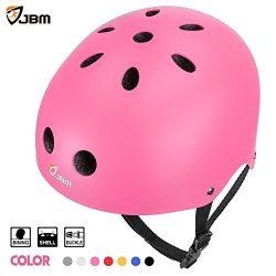 JBM Skateboard Helmet CPSC ASTM Certified Impact resistance Ventilation for Multi-sports Cycling ...