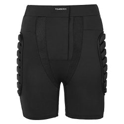 TOMSHOO Padded Shorts 3D EVA Padded Pants Hip Butt Pad Protective Gear Guard Pad Breathable Spor ...