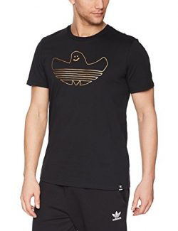 adidas Originals Men's Skateboarding Metallic Shmoo Tee, Black/Gold Metallic, L