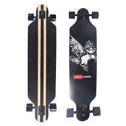 MAGIC UNION 41 Inch Maple Drop Down Longboard Complete Skateboard