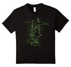 Kids Skateboarding Truck Schematic Diagram T-shirt 8 Black