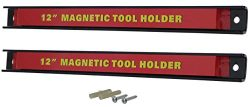 RamPro 2 12″ Magnetic Tool Holder Bars, Super Strong Heavy-Duty Metal Magnet Storage Tool  ...