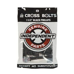 Independent Genuine Parts Cross Bolts Standard Phillips Skateboard Hardware (Black/Black, 1 1/2& ...