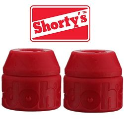 Shorty's Red Doh-Doh Bushings 95a Medium Hard (2 sets) For Skateboards & Longboards