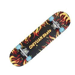 Easy_way Complete Skateboard with Colorful Flashing Wheels for Kids, Boys, Girls, Youths, Beginn ...