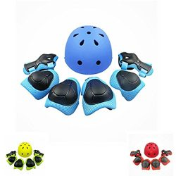 Lucky-M Kids Outdoor Sports Protective Gear ,Boys and Girls Safety Pads Set [Helmet ,Knee&El ...