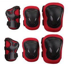 AEXGE Unisex Outdoor Sports Knee Elbow Wrist Protective Pads Set for Skateboard Cycling Roller S ...