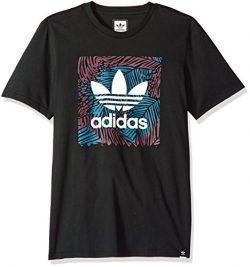 adidas Originals Men's Skateboarding Blackbird Palm Tee, Black, L