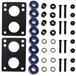 Longboard Hardware Refresh Kit – Bearings, Risers, 1.25″ Hardware
